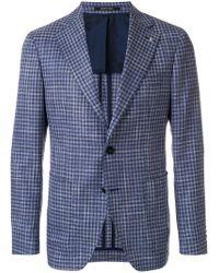 Tagliatore - Tailored Check Blazer - Lyst