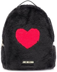 Love Moschino - Faux Fur Heart Backpack - Lyst