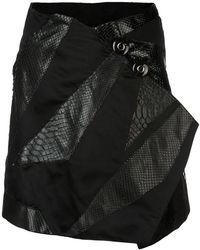 Rubin Singer - Origami Skirt With Python Detail - Lyst