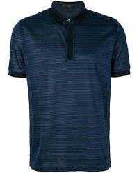 Corneliani | Striped Polo Shirt | Lyst