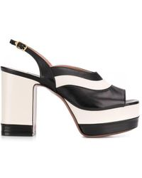 baed15f6847e89 Lyst - Gucci Platform Sandals in Metallic