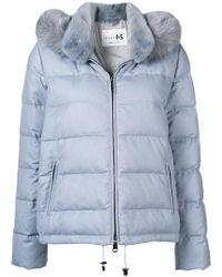 Manzoni 24 - Fur Collar Padded Jacket - Lyst