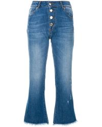 Each x Other - Button Cropped Jeans - Lyst