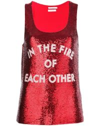 Each x Other - Sequinned Tank Top - Lyst