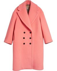Burberry - Double-faced Wool Cashmere Cocoon Coat - Lyst