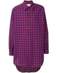 Maison Margiela - Checked Long Shirt - Lyst