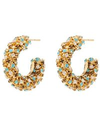 Rosantica - Crystal Hoop Earrings - Lyst