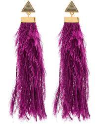 Katerina Makriyianni - Purple Rain Drop Earrings - Lyst