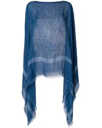 Destin - Knitted Draped Poncho - Lyst