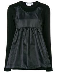 Comme des Garçons - Longsleeved Hybrid T-shirt - Lyst
