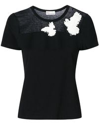RED Valentino - Dove Embroidered T-shirt - Lyst