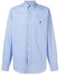 Ralph Lauren - Vichy Button Shirt - Lyst