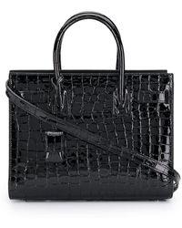 1d57d5f1e807 Saint Laurent - Embossed Crocodile Effect Sac De Jour Bag - Lyst