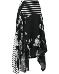 Preen By Thornton Bregazzi - Contrast Panel Skirt - Lyst