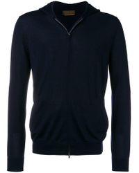 Altea - Hooded Zip Front Cardigan - Lyst