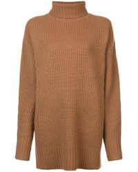 Sally Lapointe - Ribbed Turtleneck Tunic - Lyst