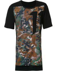 Boris Bidjan Saberi 11 - Contrast Panel T-shirt - Lyst