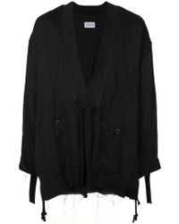 Song For The Mute - Drawstring Draped Coat - Lyst