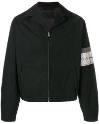 Prada - Patch Sleeve Zipped Jacket - Lyst