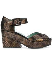 Paola D'arcano - Chunky Heeled Sandals - Lyst