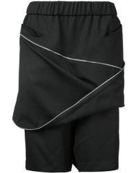 Moohong - Zip Front Track Shorts - Lyst
