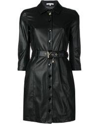 Patrizia Pepe - Belted Faux Leather Mini Dress - Lyst