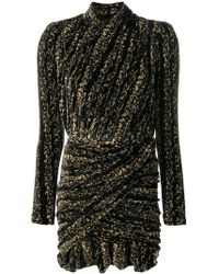 Balenciaga - Draped Velvet Mini Dress - Lyst
