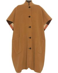 Burberry - Poncho oversize a cuadros reversible - Lyst