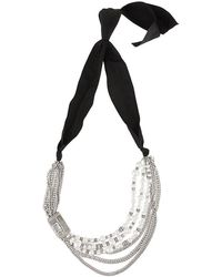 Lanvin - Embellished Chain Necklace - Lyst