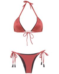 Brigitte Bardot - Triangle Top Bikini Set - Lyst