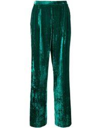 Erika Cavallini Semi Couture - Wide-leg Velvet Trousers - Lyst