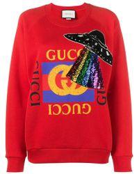 Gucci - Oversized Embellished Sweatshirt - Lyst