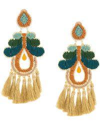 Mercedes Salazar - Large Tassel Earrings - Lyst