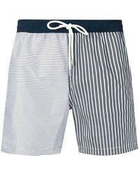 Eleventy - Striped Swim Shorts - Lyst