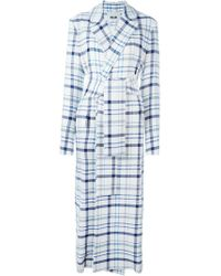 MSGM | Belted Checked Coat | Lyst