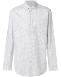 Etro - Fine Paisley Print Curved Hem Shirt - Lyst