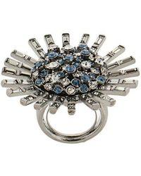 Oscar de la Renta - Jeweled Flower Ring - Lyst