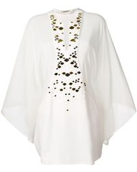 Roberto Cavalli - Embellished Scale Detail Tunic - Lyst