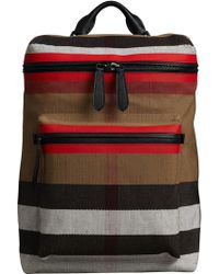 ed78e5fa1 Burberry Ekd London Check Backpack in Gray for Men - Save 33% - Lyst