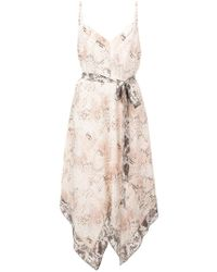 L'Agence - Snake Print Camisole Dress - Lyst