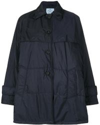 Prada - Belted Puffer Jacket - Lyst