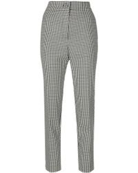 Erika Cavallini Semi Couture - Vichy High Waisted Trousers - Lyst