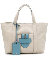 Tila March - Small Leather Trim Tote - Lyst
