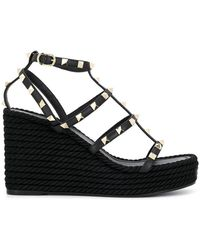 Valentino - Garavani Rockstud Platform Sandals - Lyst
