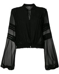 Capucci - Long-sleeve Sheer Blouse - Lyst