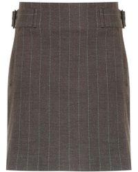 Egrey - Side Buckles Straight Skirt - Lyst