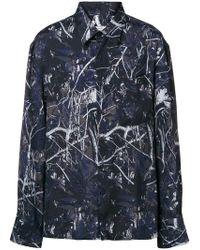 Lanvin - Camicia con stampa foglie - Lyst