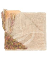 Forte Forte - Embroidered Fringed Scarf - Lyst