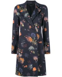 Marc Cain - Floral-print Coat - Lyst
