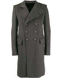 Balmain Manteau à boutonnière croisée - Gris
